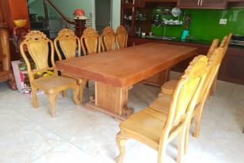 bộ bàn ăn nguyên khối