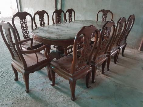 bộ bàn ăn gỗ cẩm lai