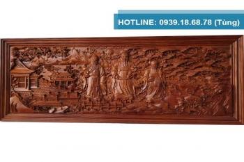 Tranh gỗ Hương đỏ Phúc Lộc Thọ