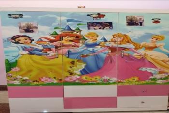 Tủ Quần Áo Trẻ Em Hình Công Chúa Disney